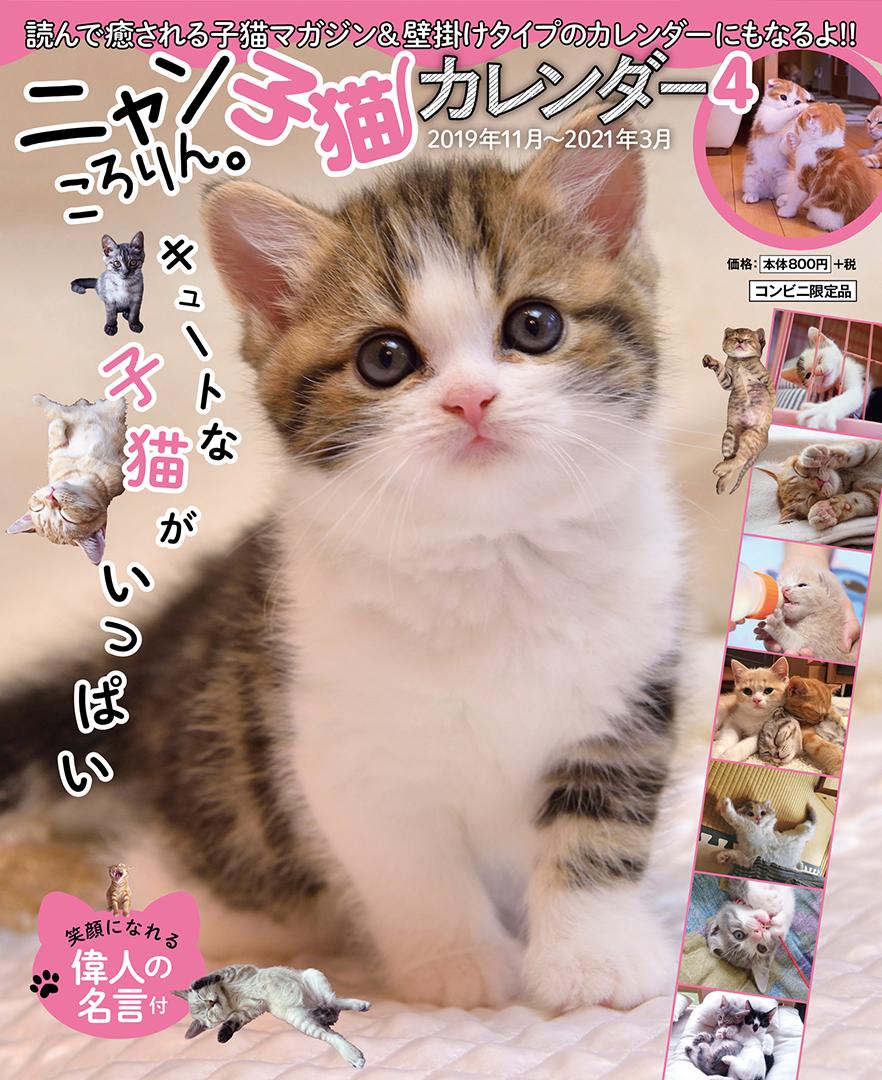 ニャンころりん。子猫カレンダー4